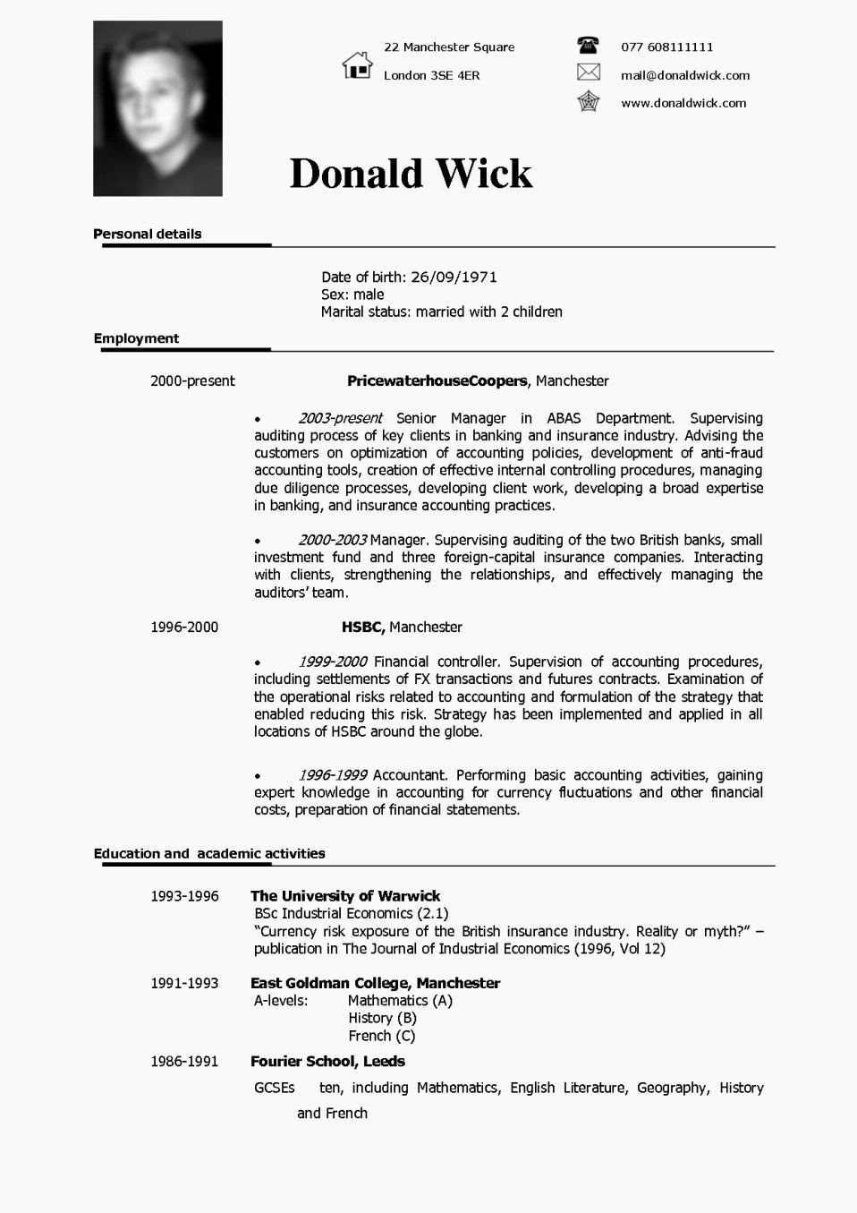 Resume Examples In Word format Best Of Cv Cover Letter Example Uk Resume Template
