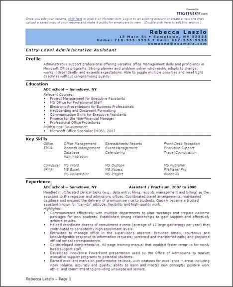 Resume Examples In Word format Best Of Free 6 Microsoft Word Doc Professional Job Resume and Cv
