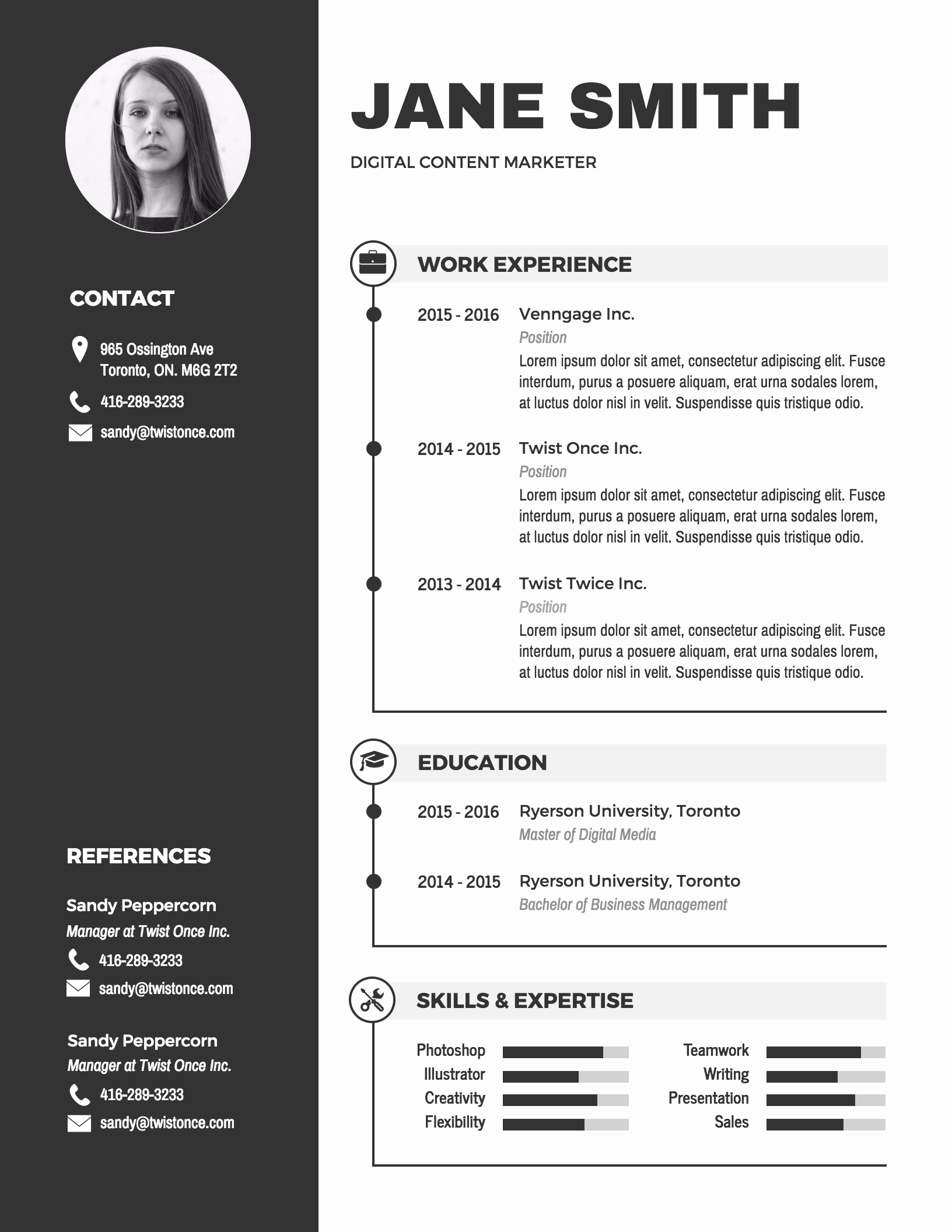 Resume Examples In Word format Elegant Infographic Resume Template Venngage