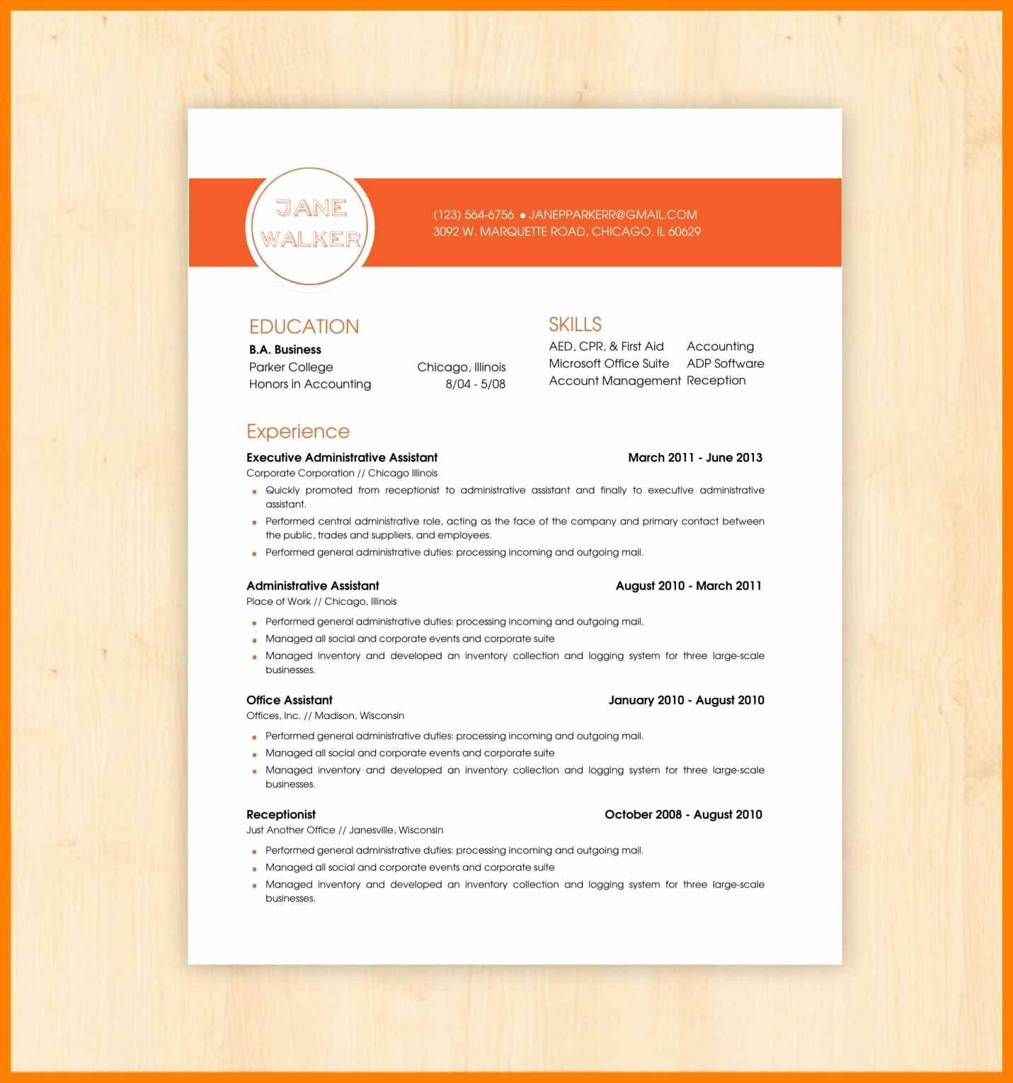 Resume Examples In Word format Elegant Word Document Templates Free