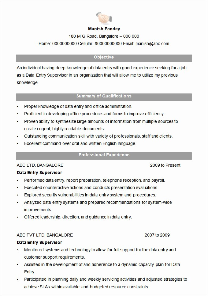 Resume Examples In Word format Fresh Microsoft Word Resume Template – 99 Free Samples
