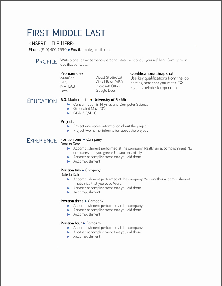 Resume Examples In Word format Unique College Student Resume Templates Microsoft Word Google