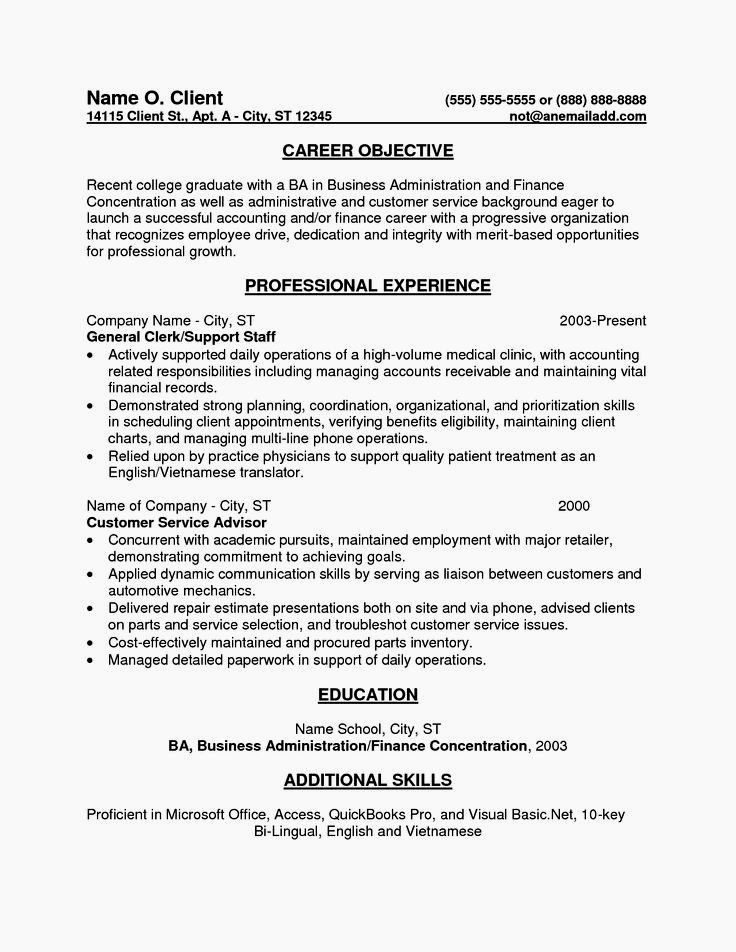 Resume for Entry Level Position Awesome Entry Level Accounting Sample Resume Objectives