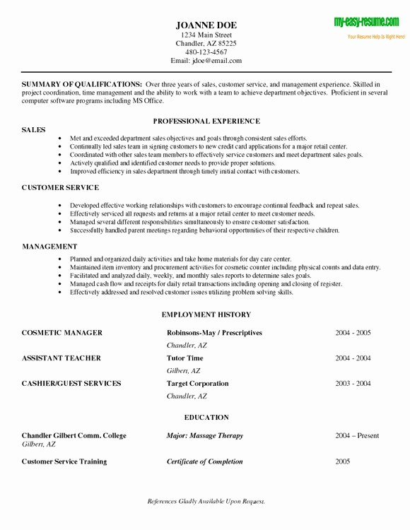 Resume for Entry Level Position Awesome Resumes for Entry Level Positions