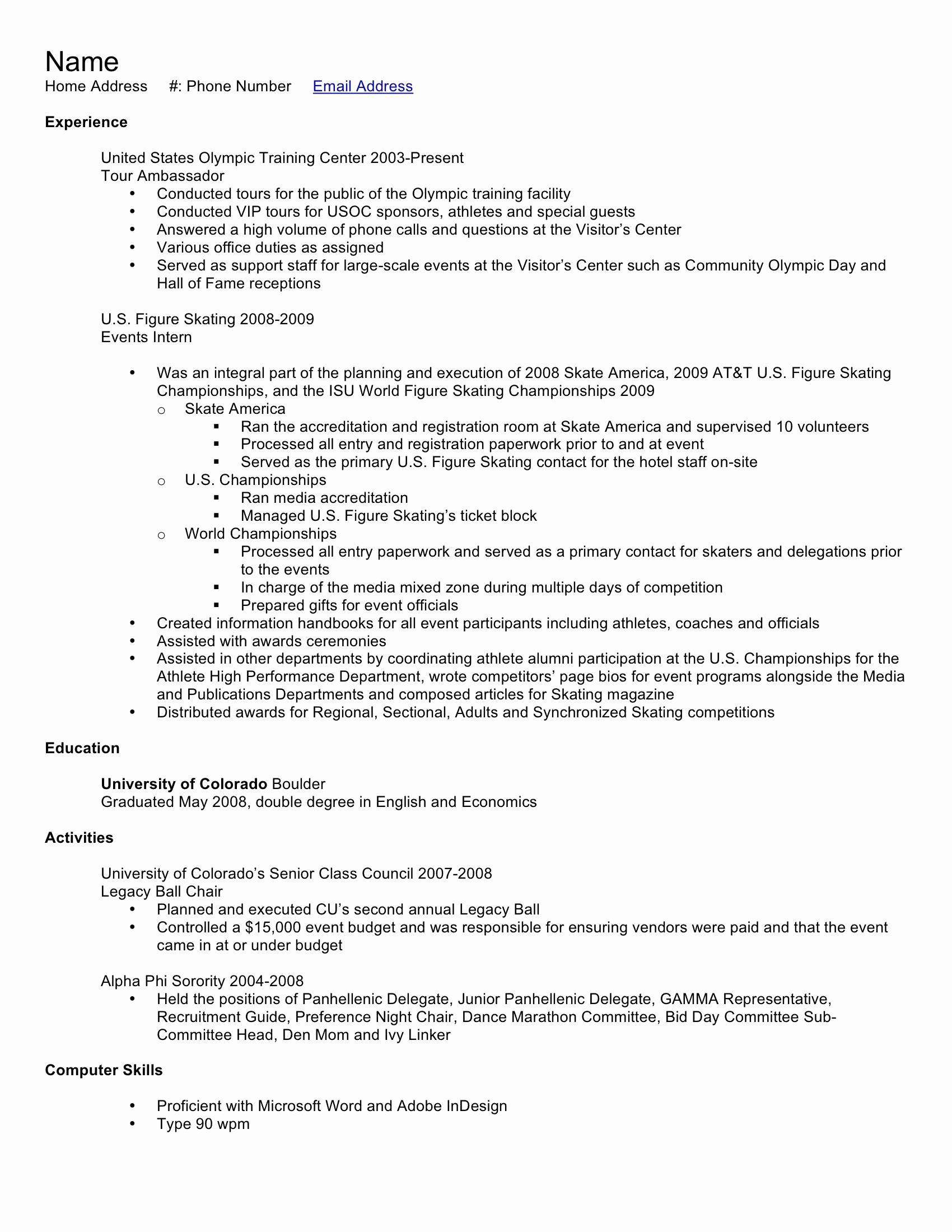 Resume for Entry Level Position Elegant Entry Level Resume Samples High School Graduate Save