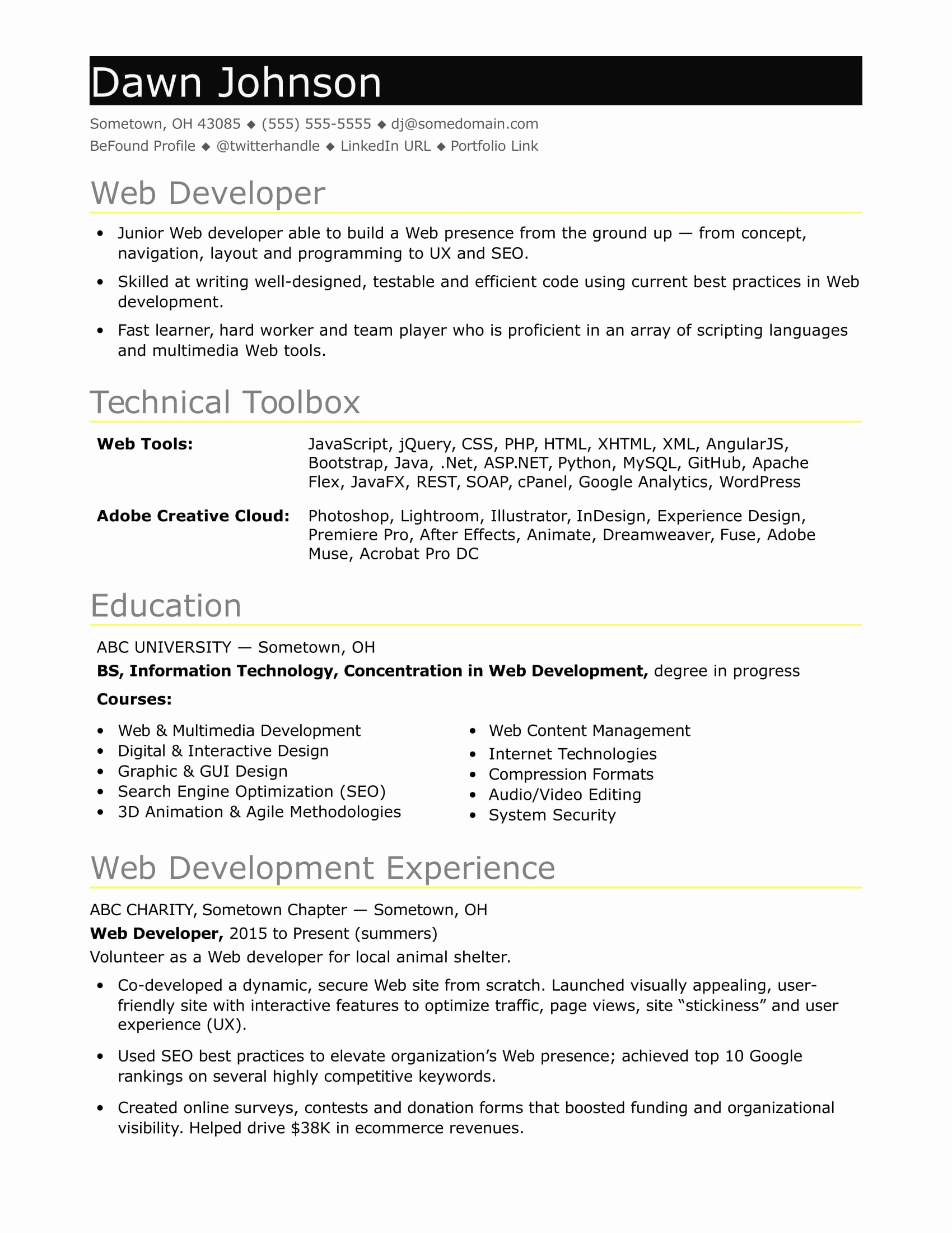 Resume for Entry Level Position Inspirational Sample Resume for An Entry Level It Developer