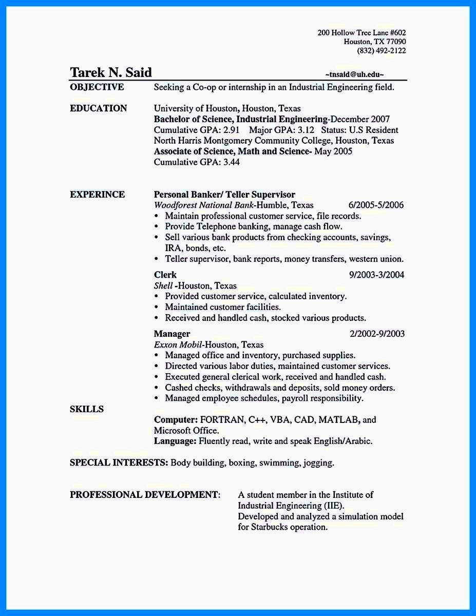 Resume for Entry Level Position Unique Entry Level Bank Teller Resume Resume Template