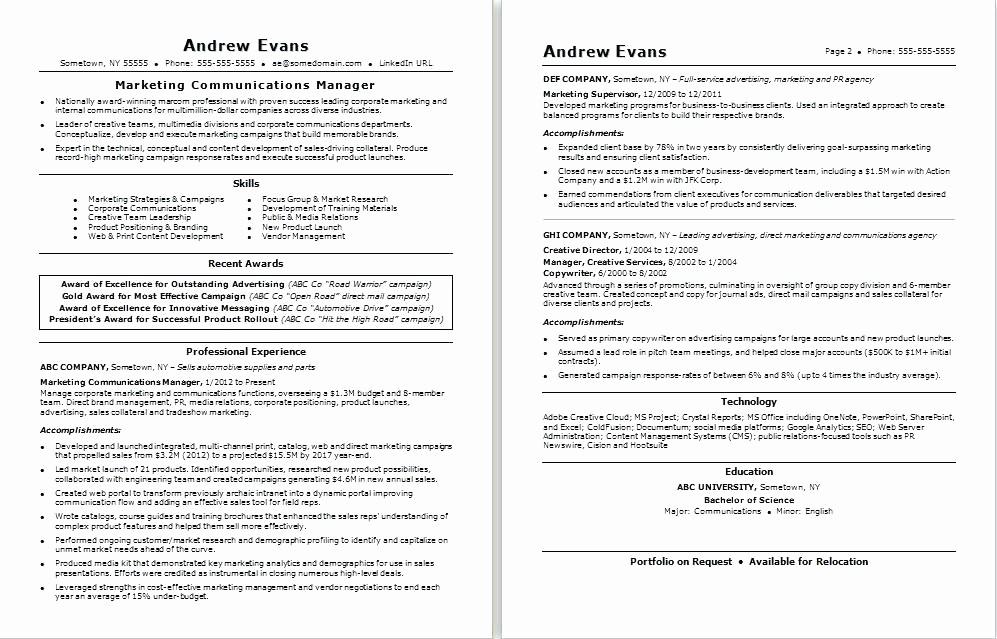 Resume For Internal Promotion Template Lovely Fresh Example