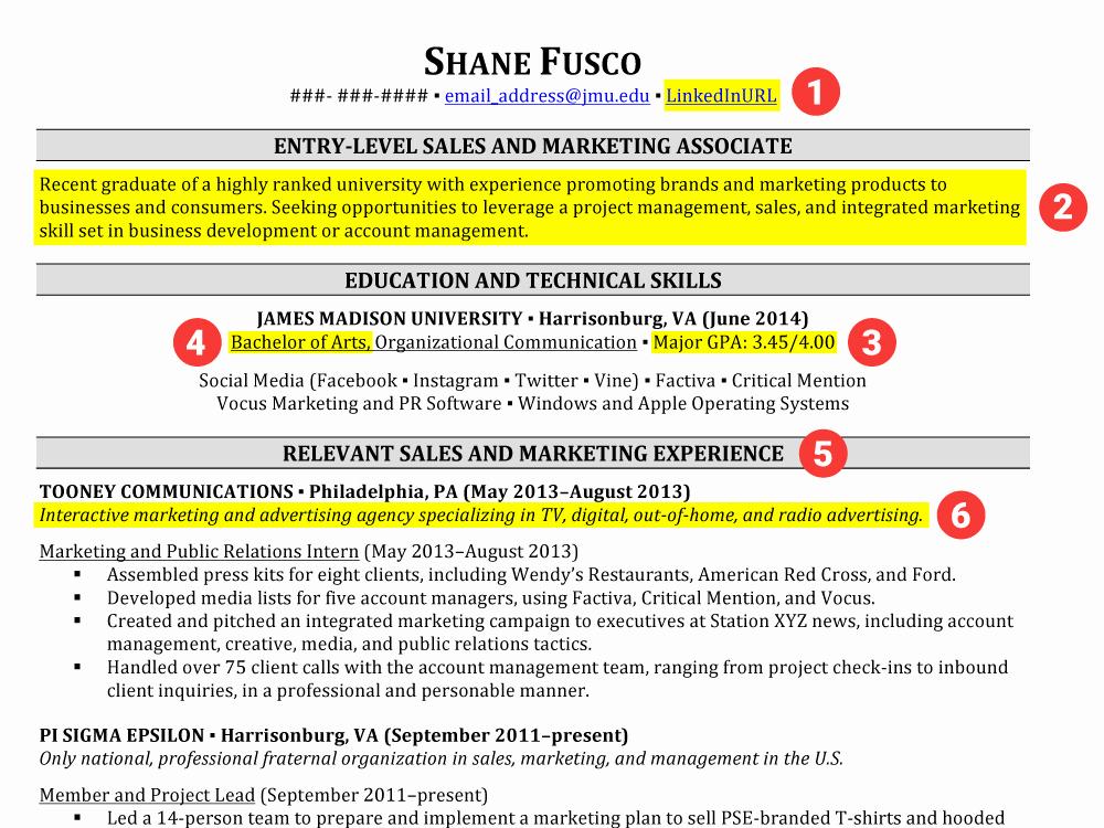 Resume for New College Graduate Elegant Resumes for College Graduates