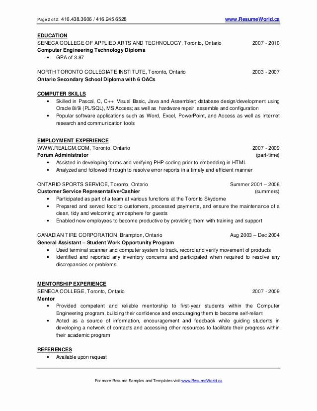 Resume For Recent College Grad Awesome New Graduate