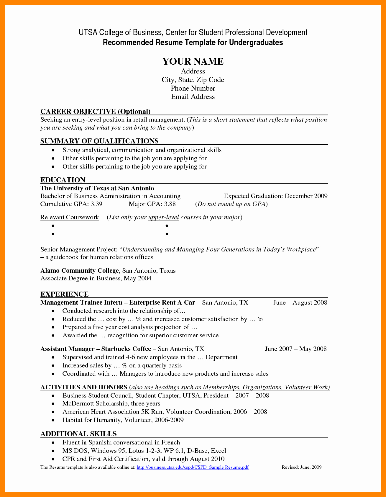 Resume for Recent College Grad Awesome Resume Objective Examples for Recent College Graduates