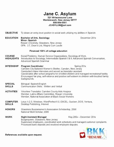 Resume for Recent College Grad Lovely Example Of New Graduate Nurse Resume Jackie M