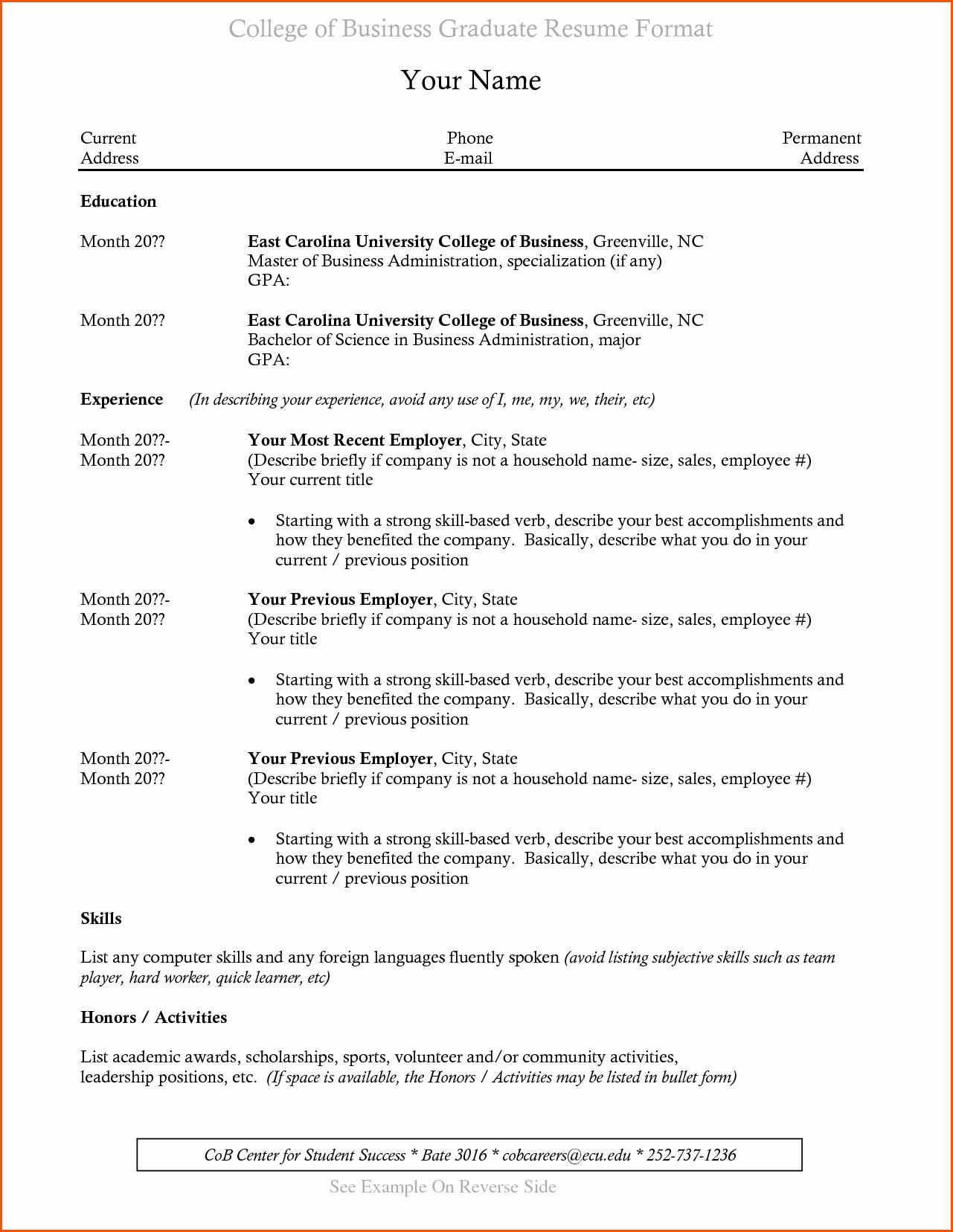 Resume for Recent College Grad Luxury College Graduate Resume Samples Ideasplataforma