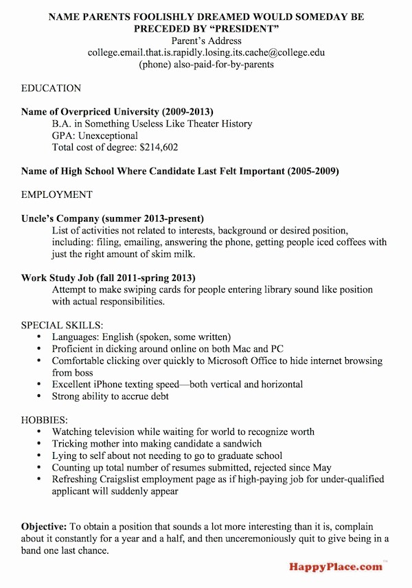 Resume for Recent College Grad New Really Bad Boss™ the Employees Strike Back