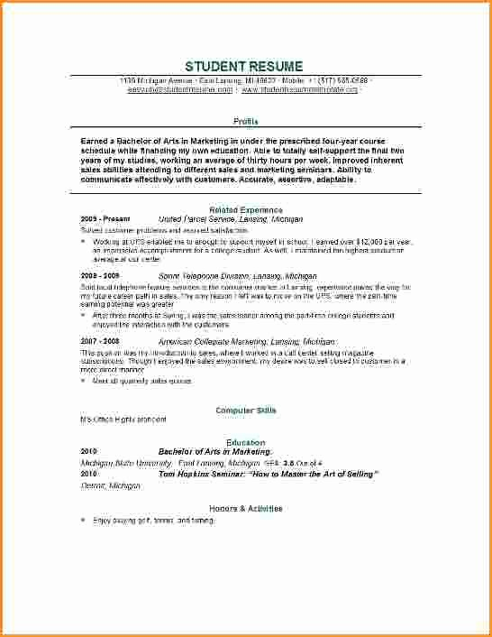 Resume for Recent College Grads Luxury 13 Good Resume for College Student