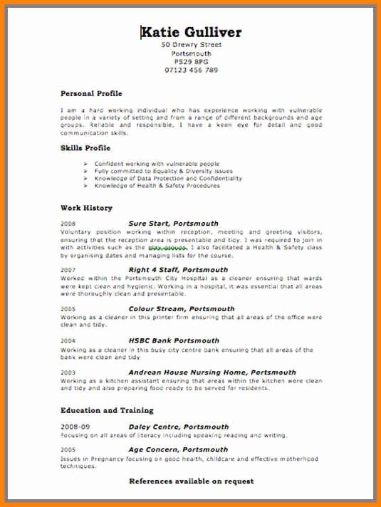 Resume format 2015 Free Download Beautiful 5 Cv Template 2015