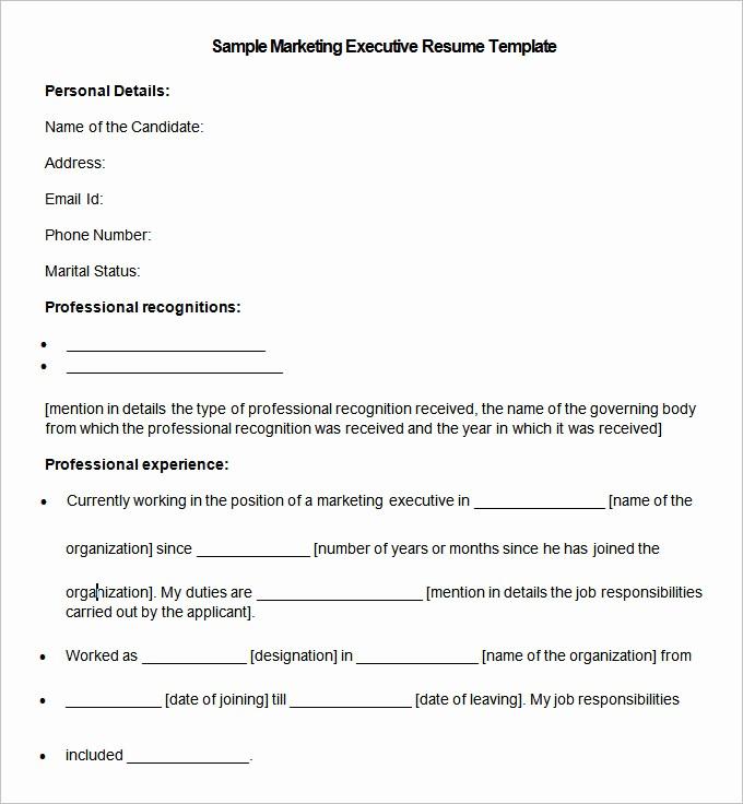 Resume format 2015 Free Download Beautiful Marketing Resume Template – 37 Free Samples Examples