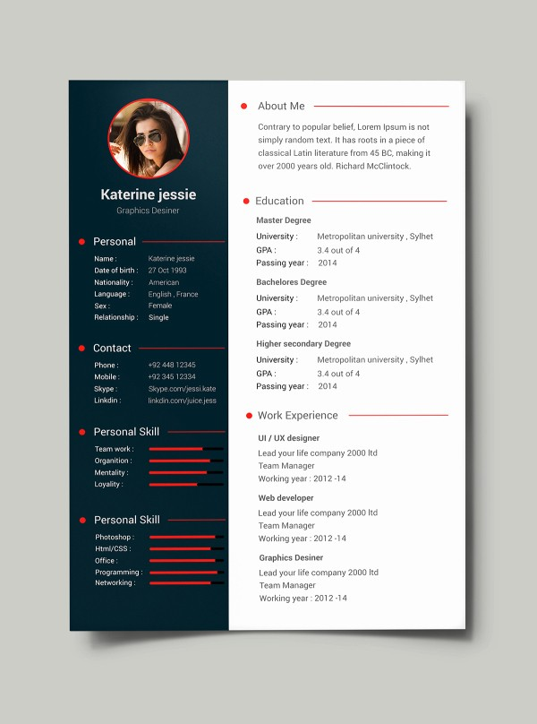 Resume format 2015 Free Download Best Of 54 Premium & Free Psd Cv Resumes to Find A Good Job