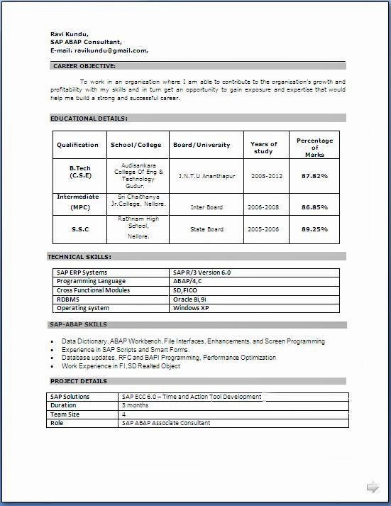 Resume format 2015 Free Download Elegant 6 Resume Models Free