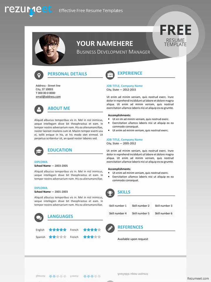 Resume format 2015 Free Download Elegant Hongdae Modern Resume Template