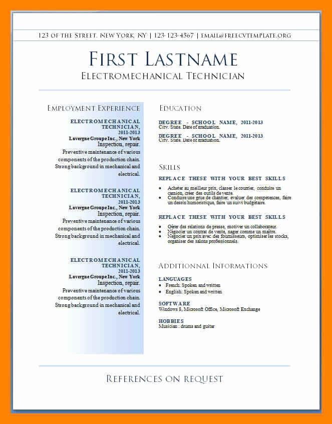 Resume format 2015 Free Download Inspirational 15 Cv Template Uk