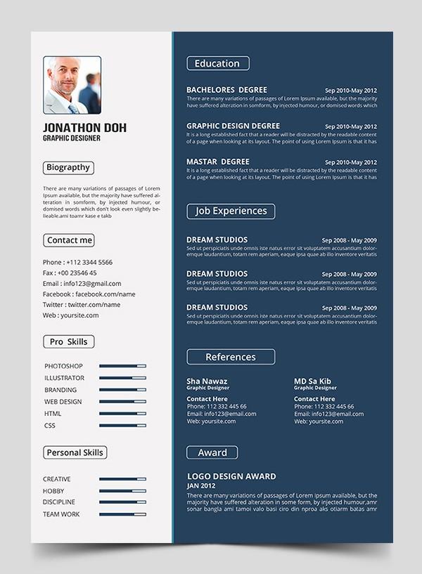 Resume format 2015 Free Download Lovely 15 Free Elegant Modern Cv Resume Templates Psd