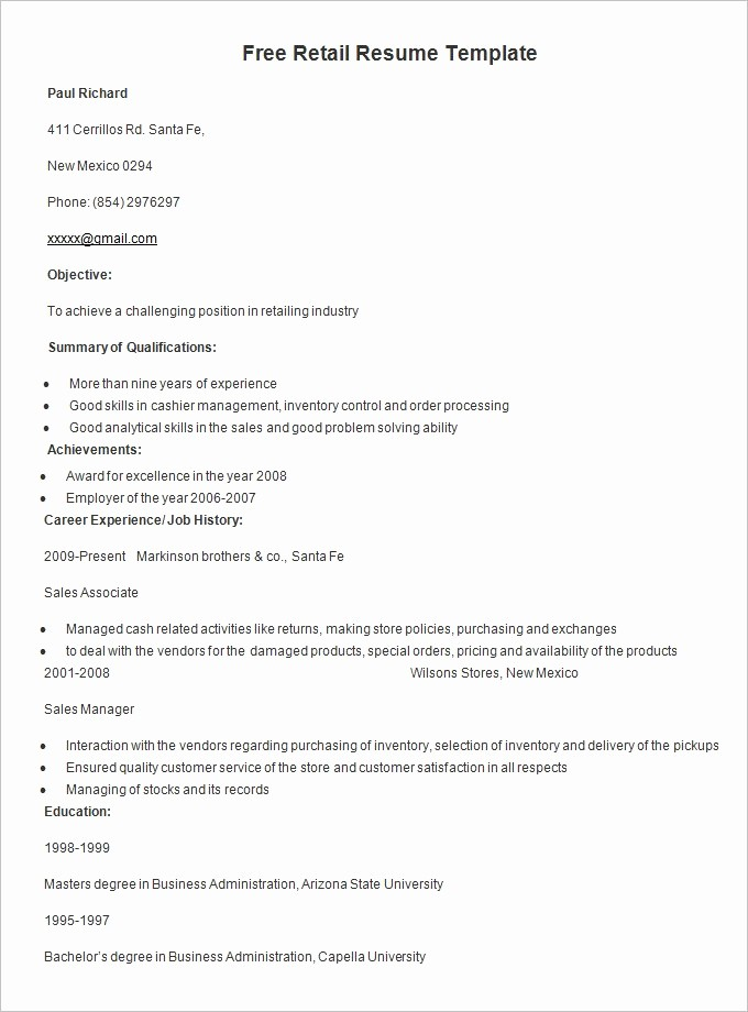Resume format 2015 Free Download Luxury Resume Templates – 127 Free Samples Examples & format