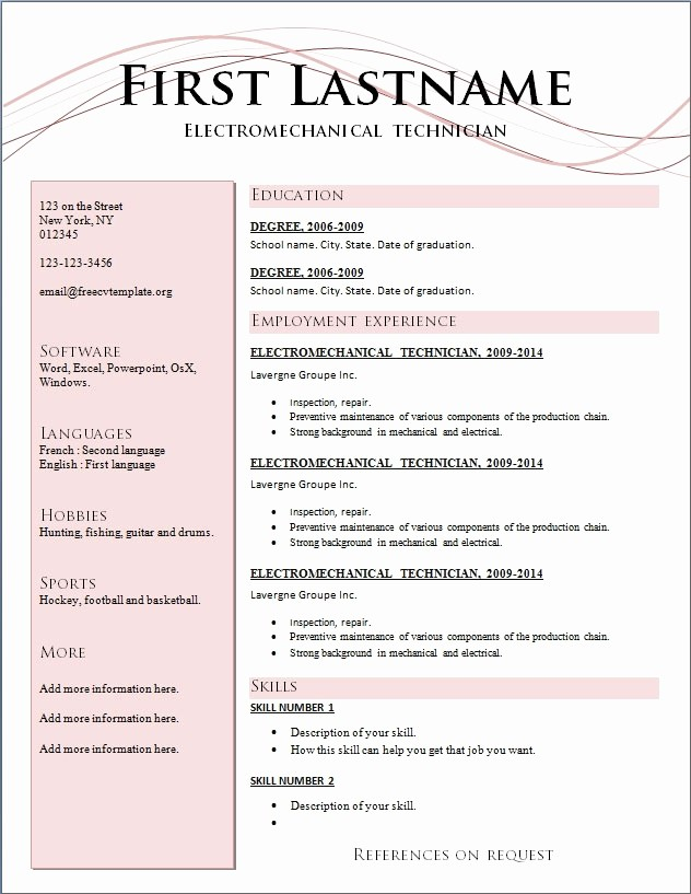Resume format 2015 Free Download Unique Updated Resume Templates