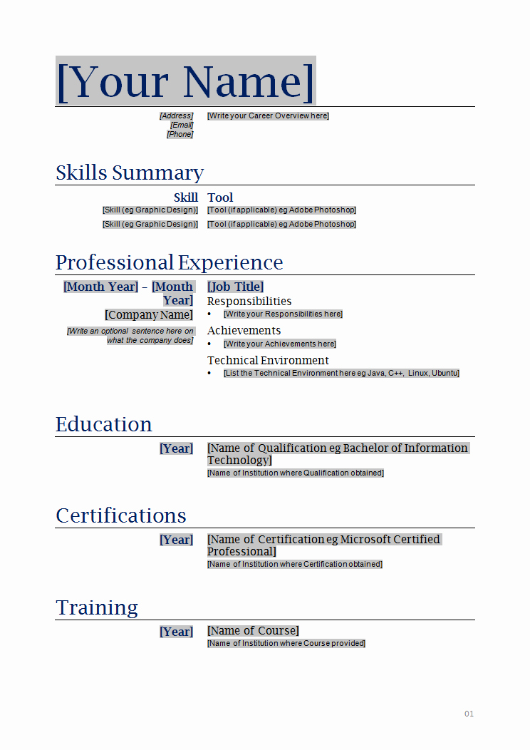 Resume format In Microsoft Word Inspirational Free Printable Resume Templates Microsoft Word