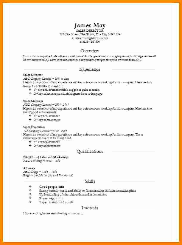 Resume format In Microsoft Word Lovely 8 Cv In Word Document
