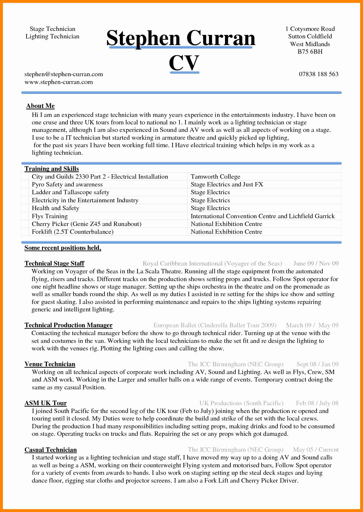 Resume format In Microsoft Word Luxury 6 Curriculum Vitae In Ms Word