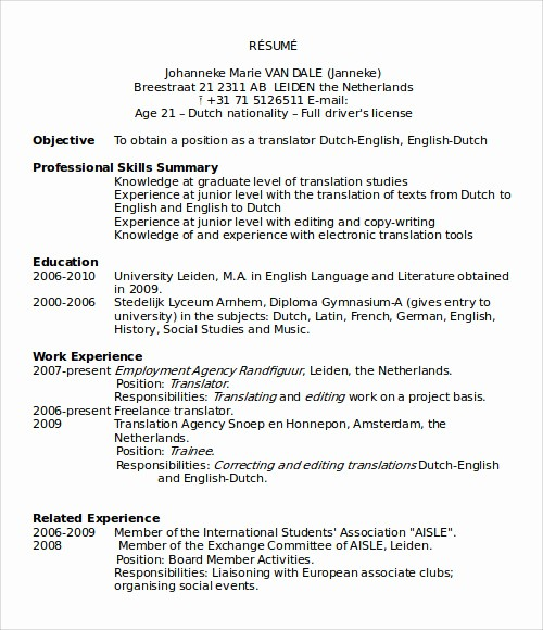 Resume format In Ms Word New 25 Microsoft Word Templates