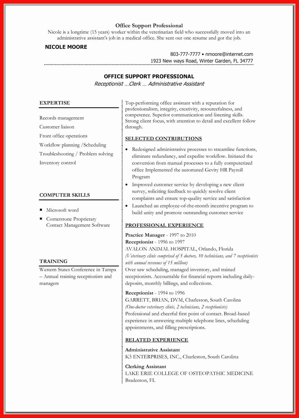 Resume format In Ms Word New Resume Word Doc Template
