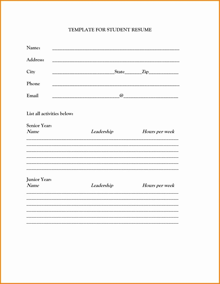 Resume forms to Fill Out Awesome Job Resume forms Printable Tag Tremendous Resume forms to