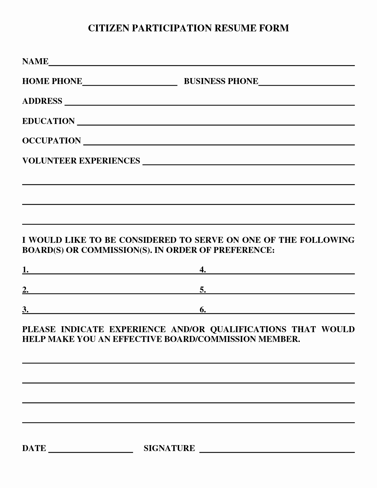 Resume forms to Fill Out Beautiful Best S Of Free Resume forms Can Print Free Resume