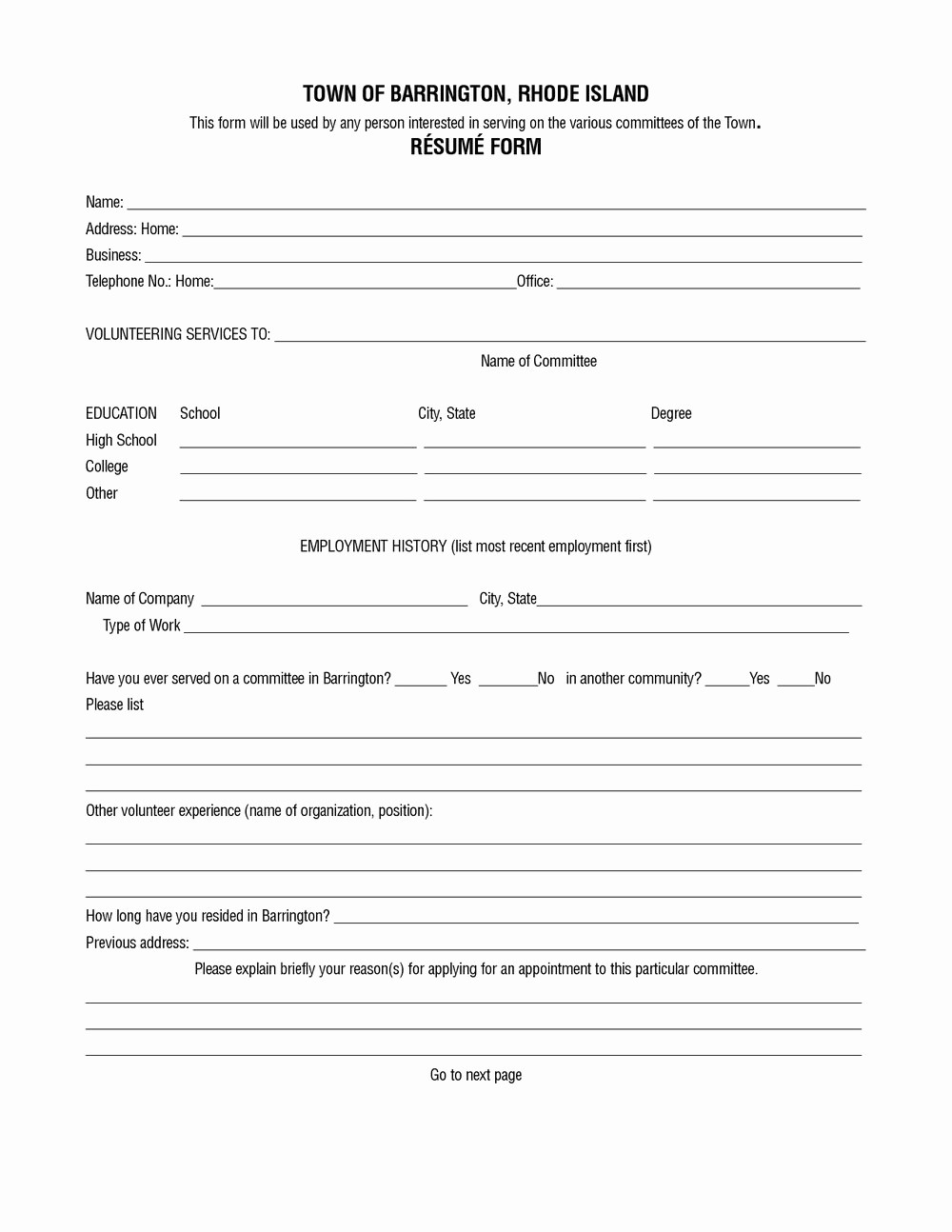 Resume forms to Fill Out Inspirational Blank Resume form to Fill Out Resumes 1046