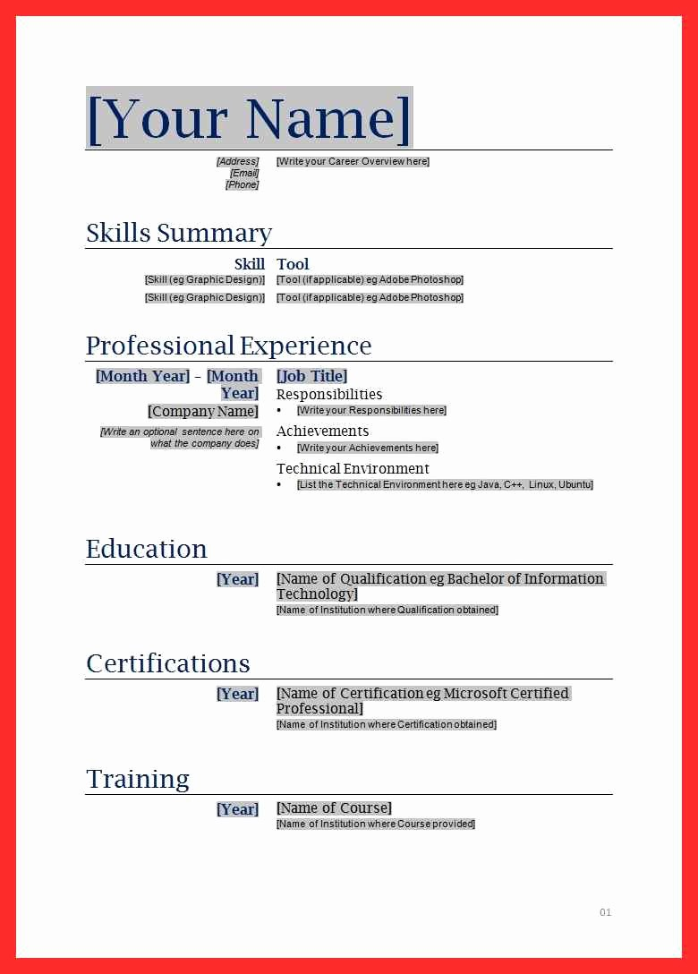 Resume forms to Fill Out Luxury Fill In Resume form