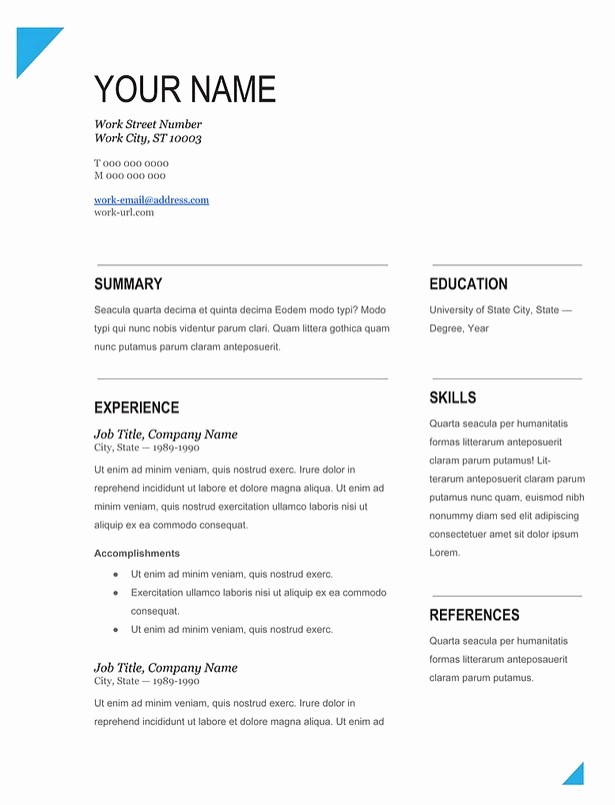 Resume forms to Fill Out New Modern Fill In Blank Resume Template Works