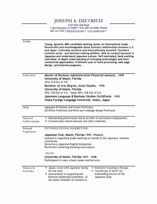 Resume Free Templates to Download Elegant Resume Templates