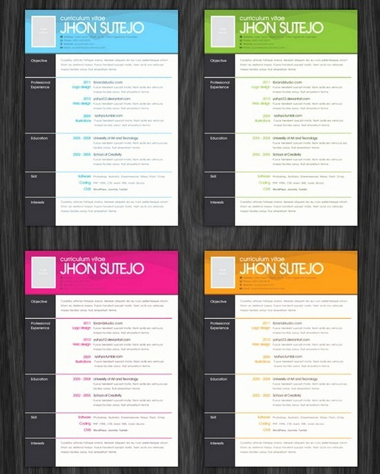 Resume Free Templates to Download Lovely Creative Resume Template Free Download Doc Templates