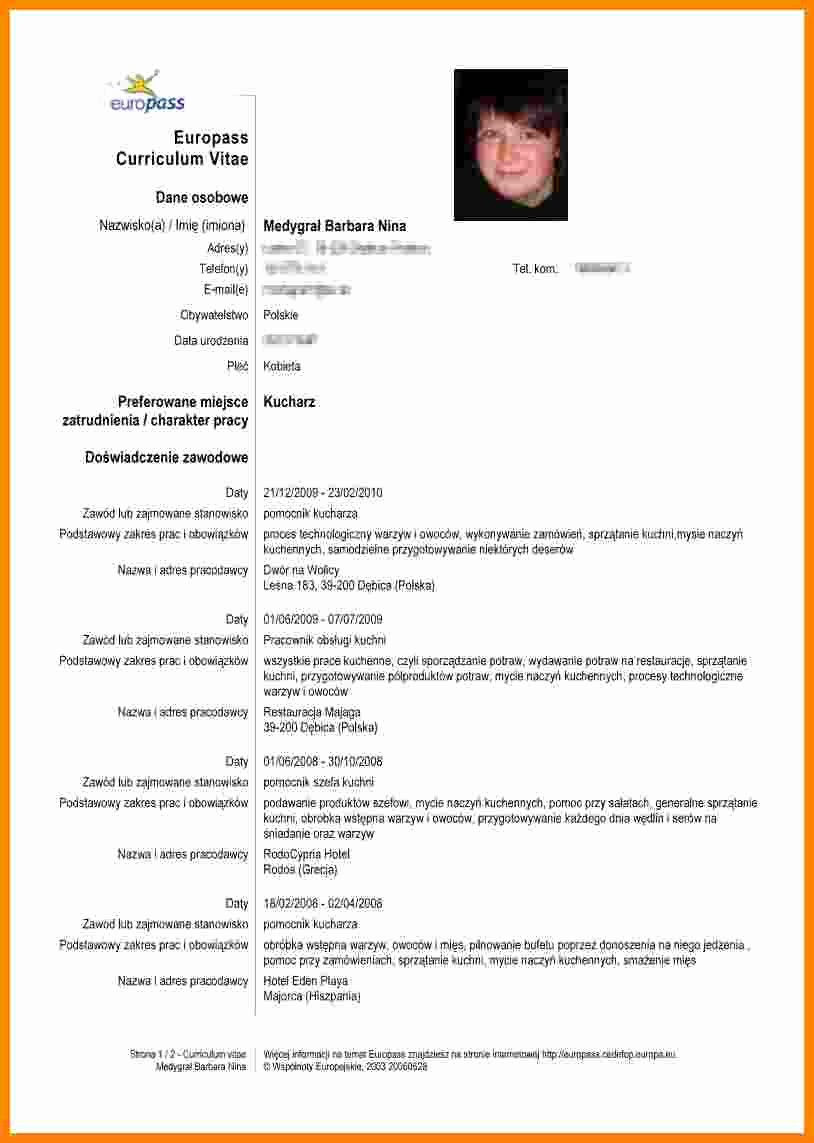 Resume Models In Word format Awesome 5 Curriculum Vitae Exemplu