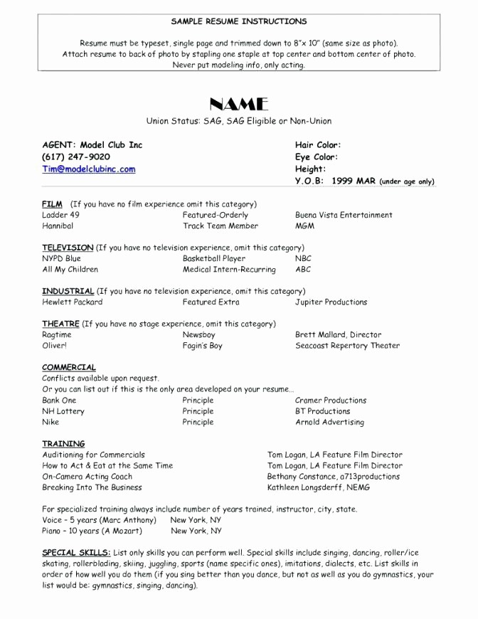 Resume Models In Word format Beautiful Model Resume Samples Co Modeling Template Word A Microsoft