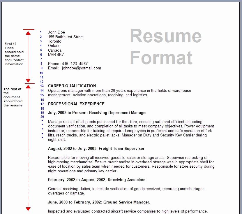 Resume Models In Word format Best Of Download Resume formats & Write the Best Resume