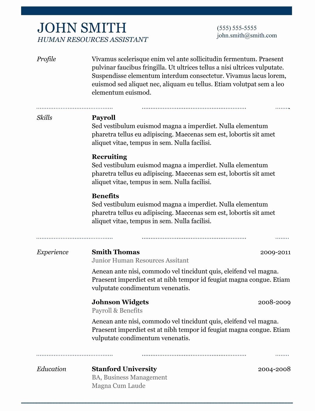 Resume Models In Word format Lovely 8 Resume Model Word format