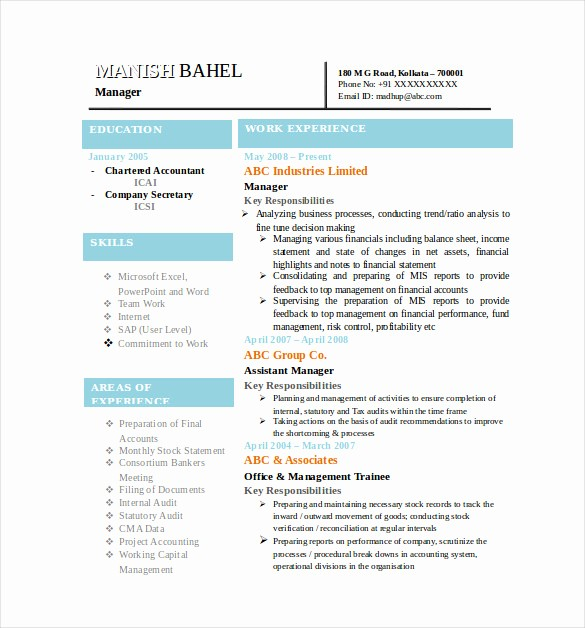 Resume Models In Word format Luxury Best Resume formats – 40 Free Samples Examples format