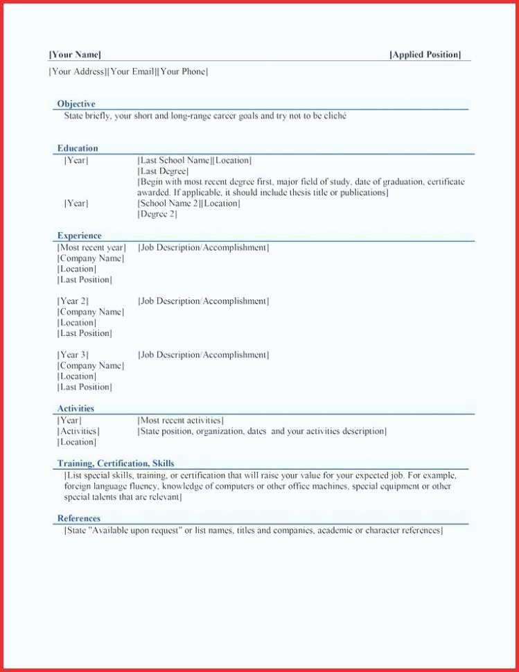 Resume Models In Word format Luxury Resume Models In Word format Resume formats Word Template