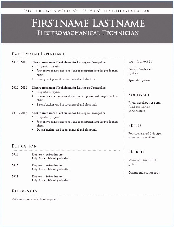 Resume Reference Template Microsoft Word Awesome Resume Resume Microsoft Word Template Blank Resume