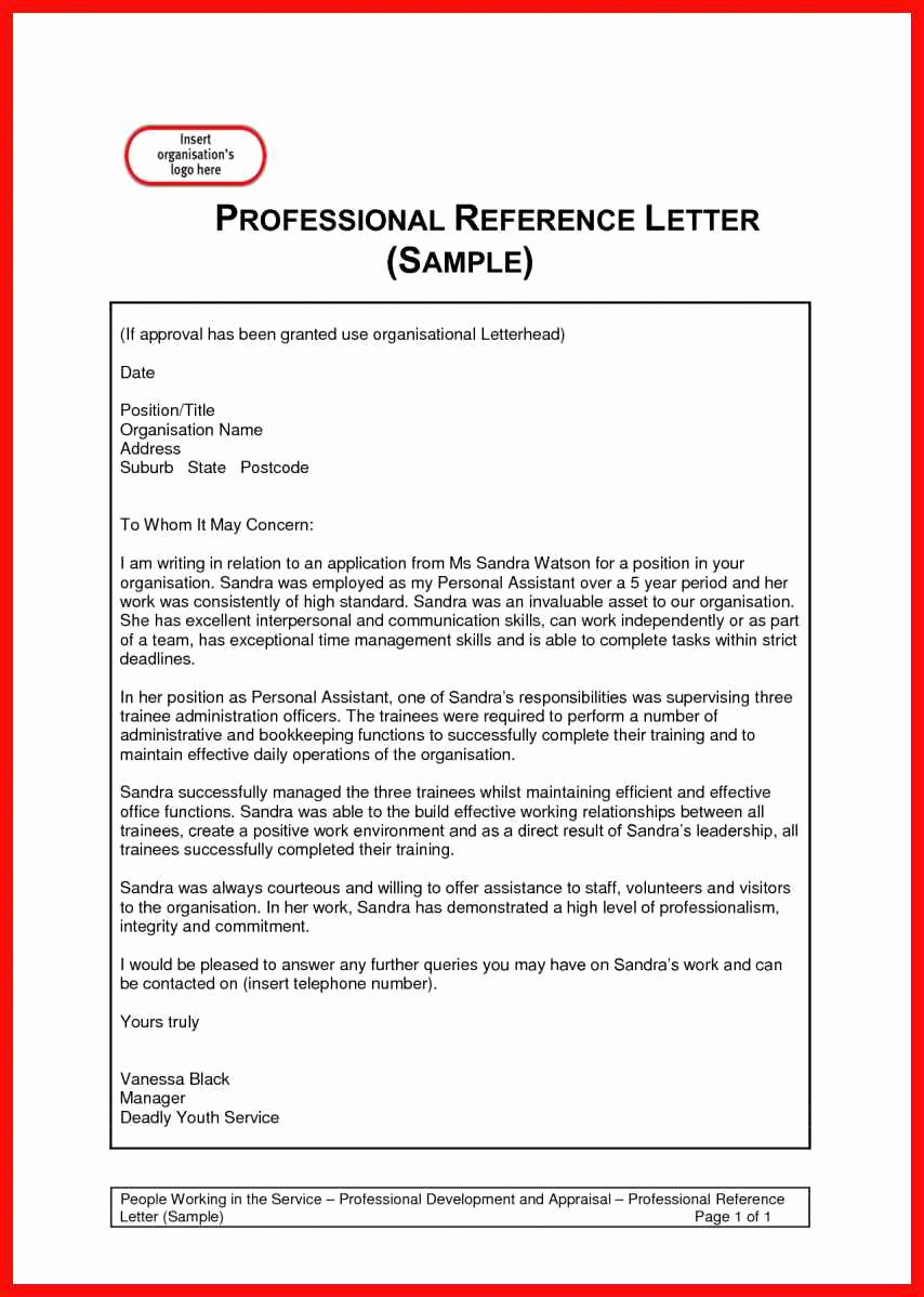 Resume Reference Template Microsoft Word Lovely Professional Letter Sample