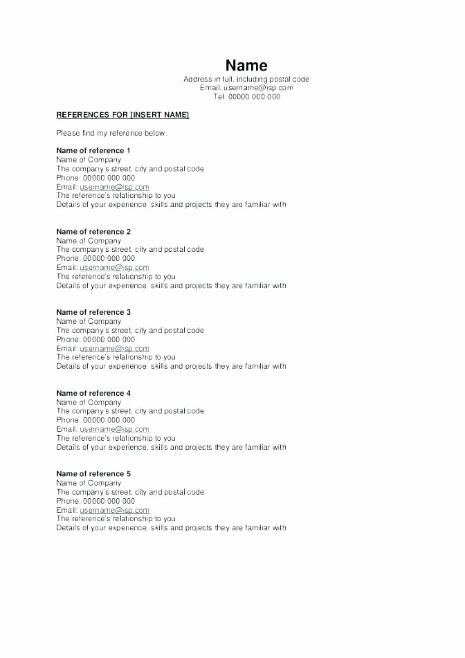 Resume Reference Template Microsoft Word Unique Template Resume Sample Templates Microsoft Word 2007
