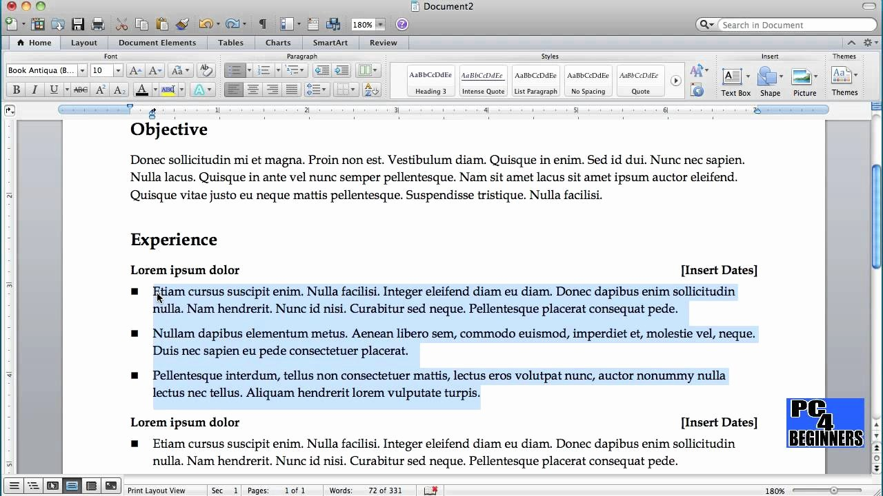 Resume Setup On Microsoft Word Awesome How to Create A Resume Using Microsoft Word